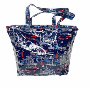 Harrod's shopping tote with zipper close